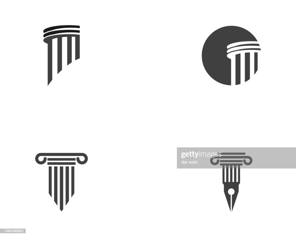 Column icon vector illustration design