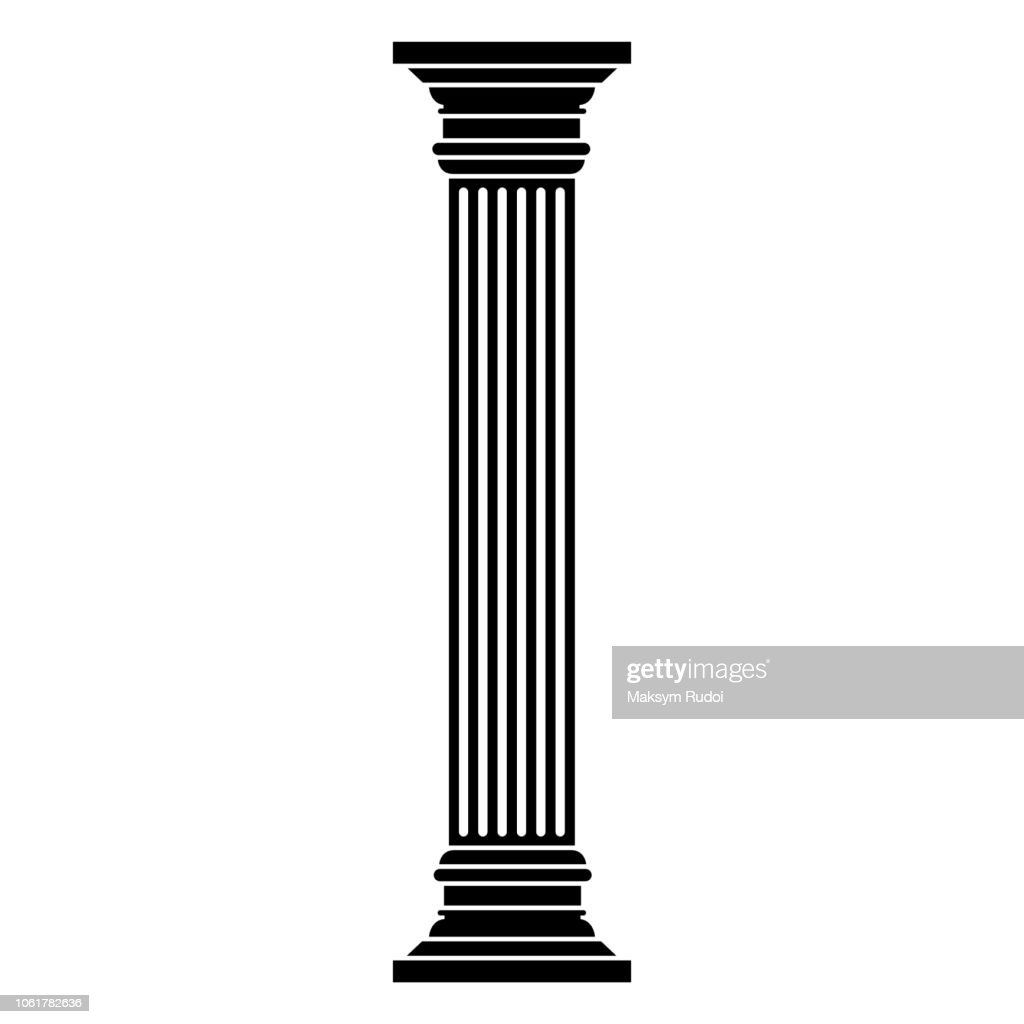 Column icono on white background