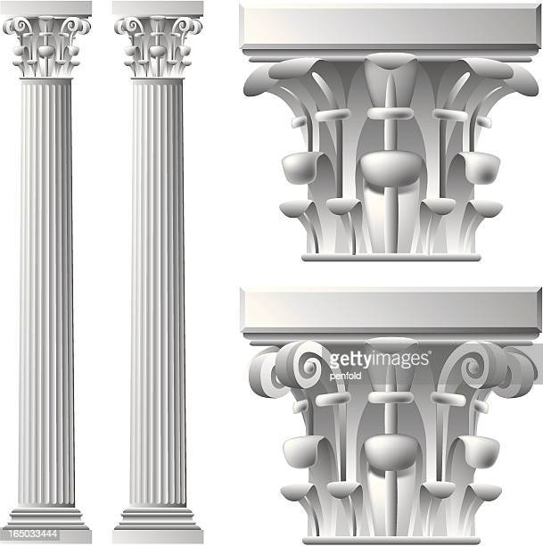 column - corinthian stock illustrations, clip art, cartoons, & icons