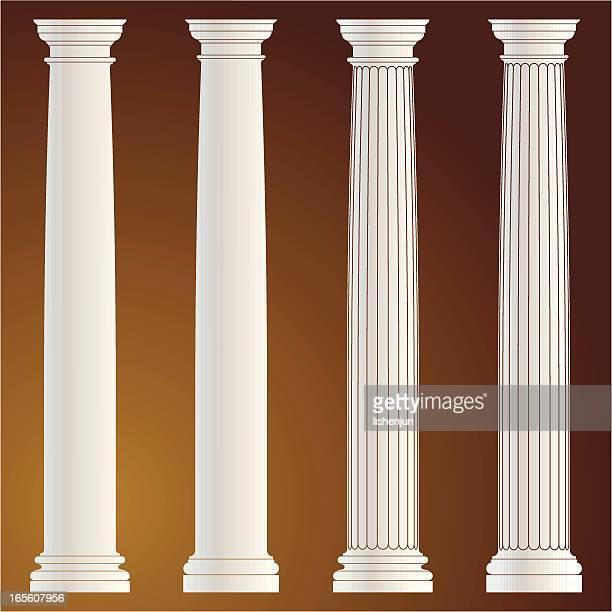 ilustrações, clipart, desenhos animados e ícones de coluna - cultura grega