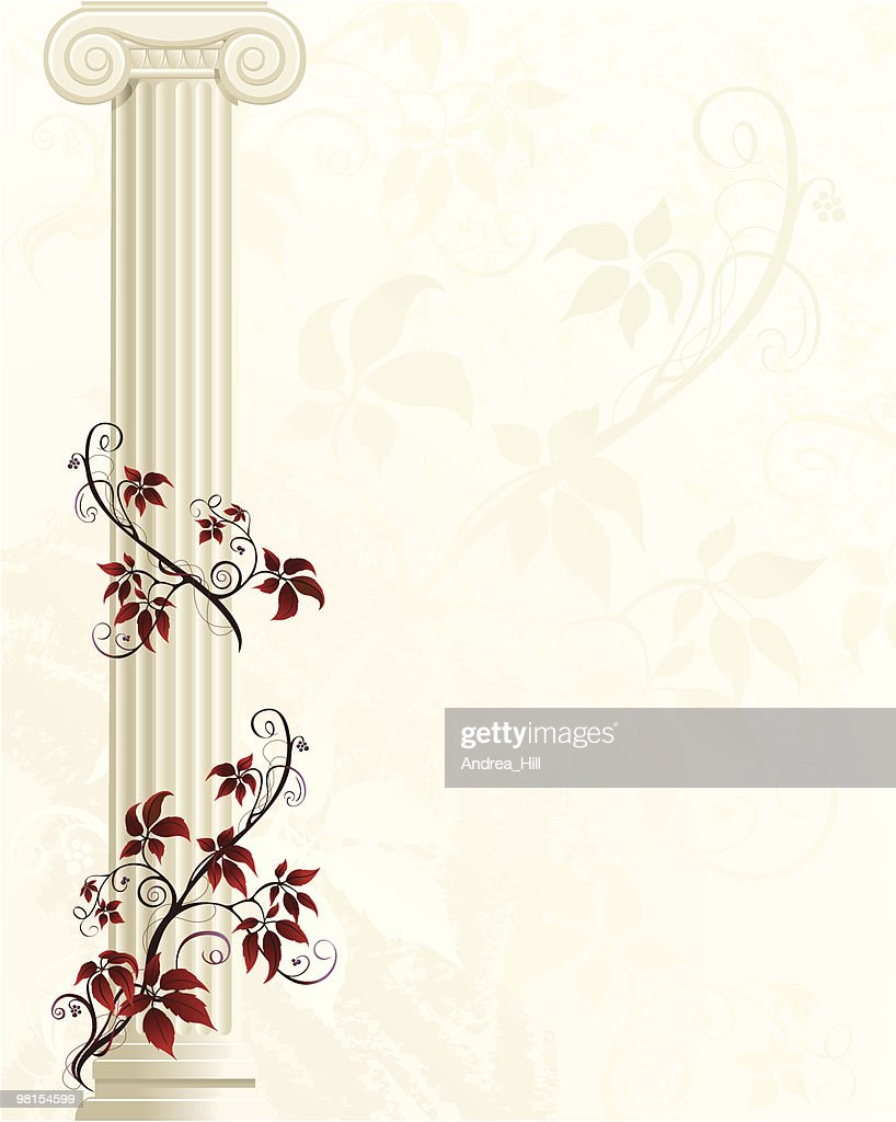 Column with Red Ivy