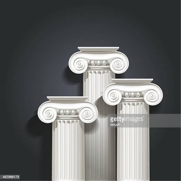 stockillustraties, clipart, cartoons en iconen met columns - classical greek style