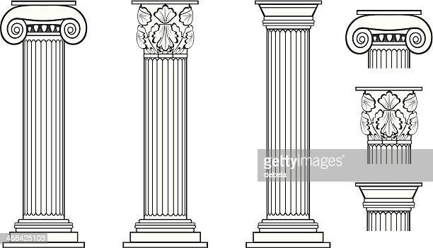 columns - greek culture stock illustrations, clip art, cartoons, & icons