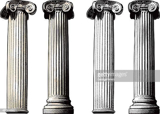 の列 - 柱点のイラスト素材/クリップアート素材/マンガ素材/アイコン素材