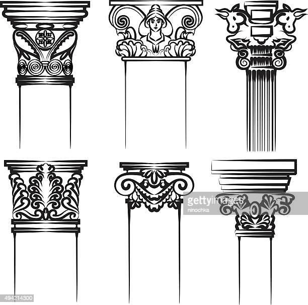 columns - corinthian stock illustrations, clip art, cartoons, & icons