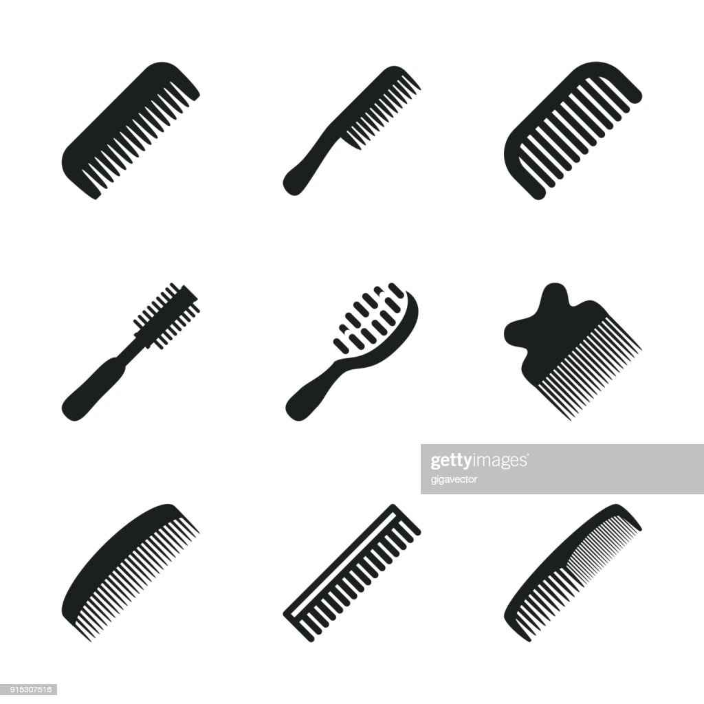 Comb vector icons.