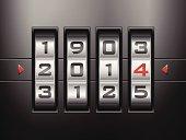 combination lock new year