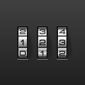 Combination lock set to be numbers 1, 2, and 3