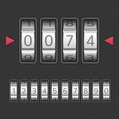 Combination lock set.