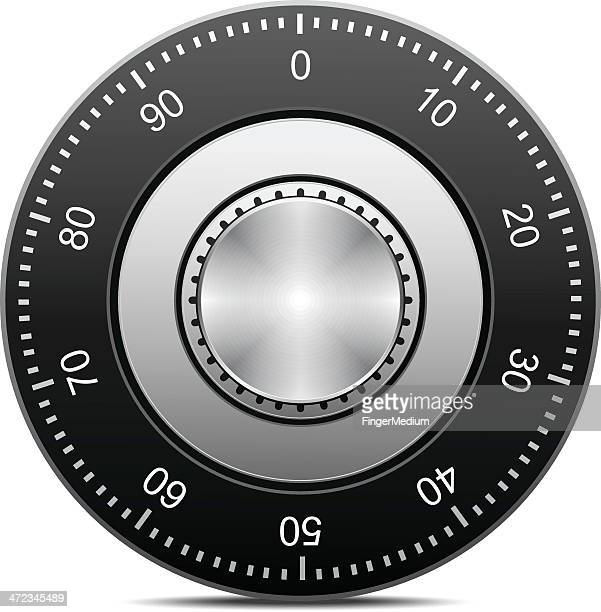 combination lock - safe stock illustrations