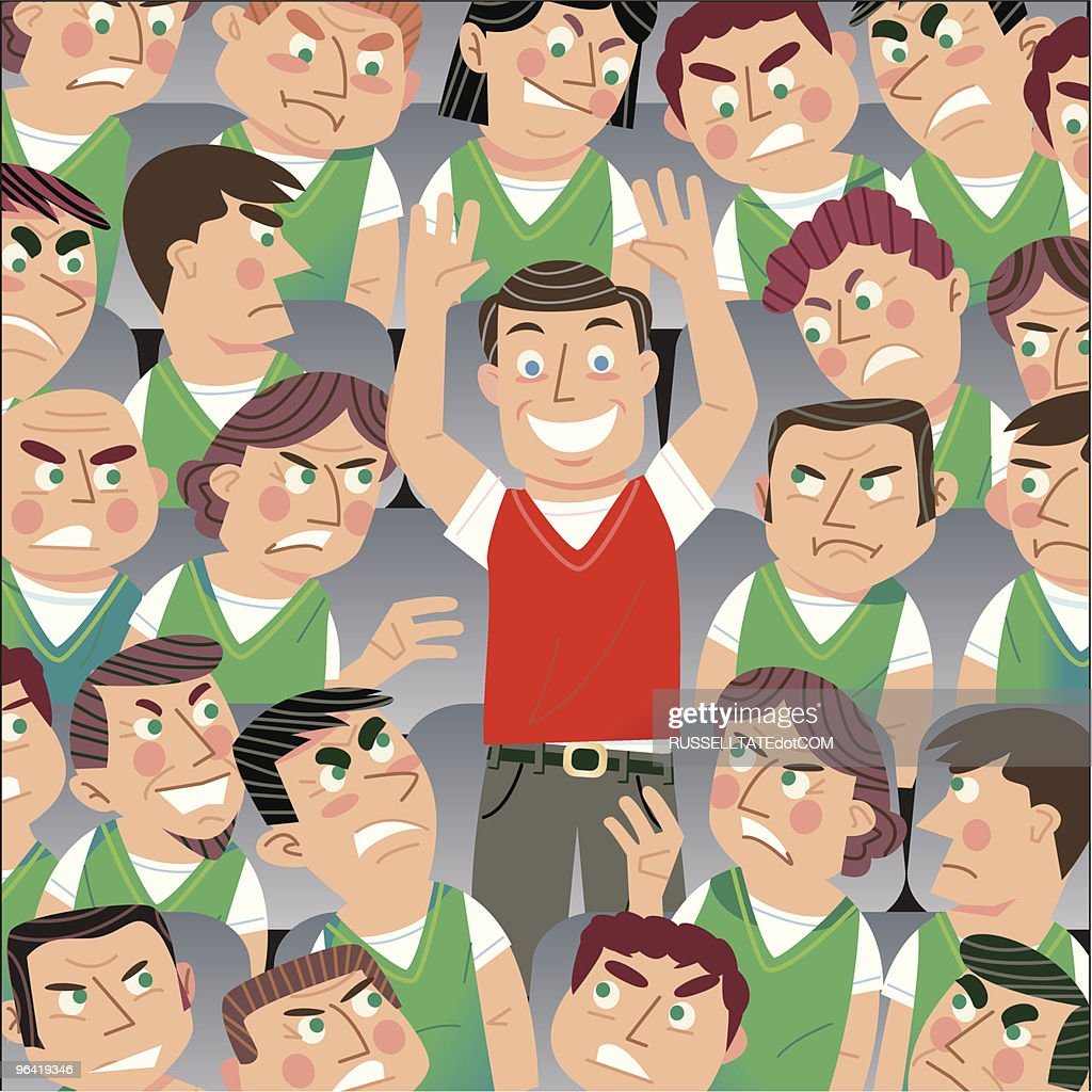 Come on you Reds! : stock illustration
