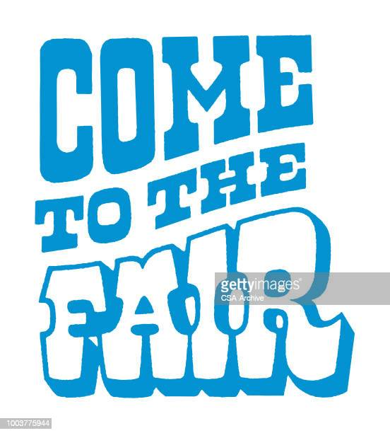 come to the fair - fairground stock illustrations