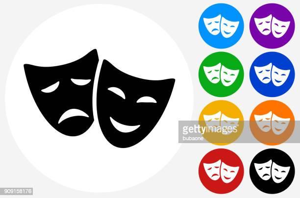 喜劇および悲劇のマスク。 - 悲劇の面点のイラスト素材/クリップアート素材/マンガ素材/アイコン素材