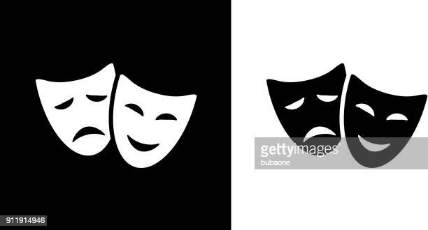 comedy and tragedy masks. - theatrical performance stock illustrations