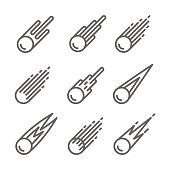 Comet Icon set