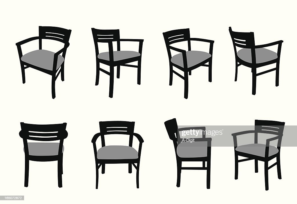 Comfy Chair Vector Silhouette