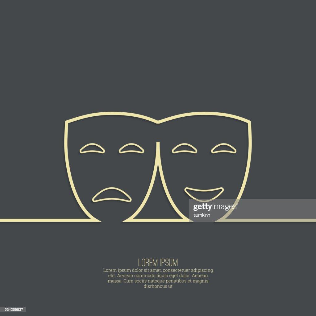 Comic and tragic theatrical mask