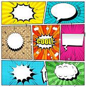 Comic book bright background