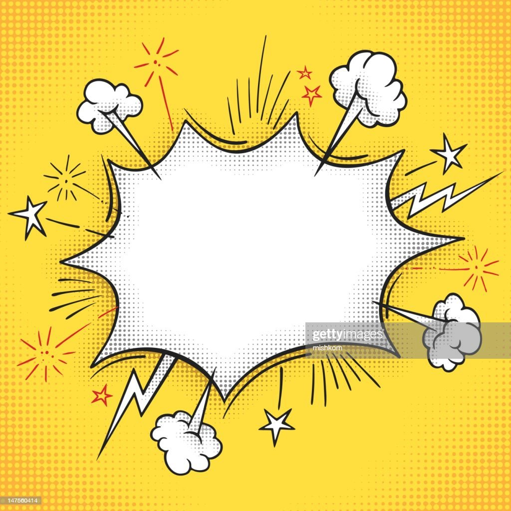 Comic Book Explosion Frame Vector Art   Getty Images