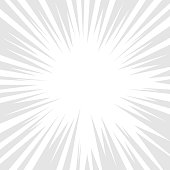 Comic book grey and white radial lines background