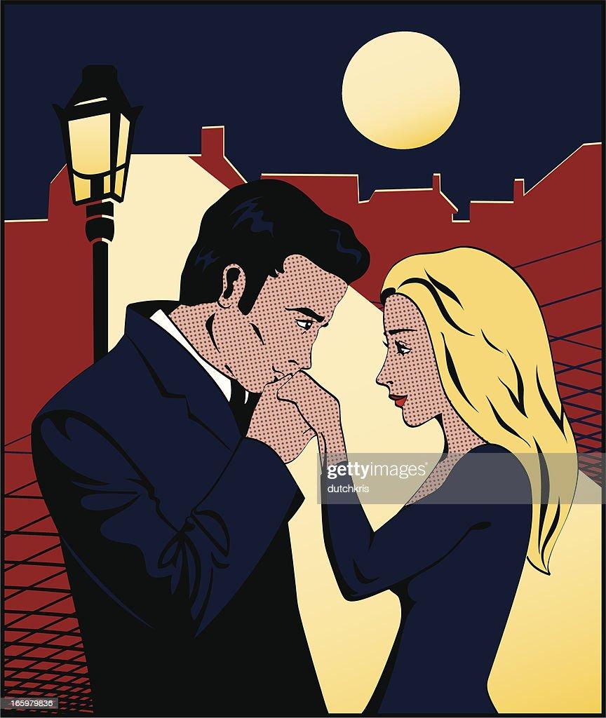 Comic Book Hand Kiss : stock illustration