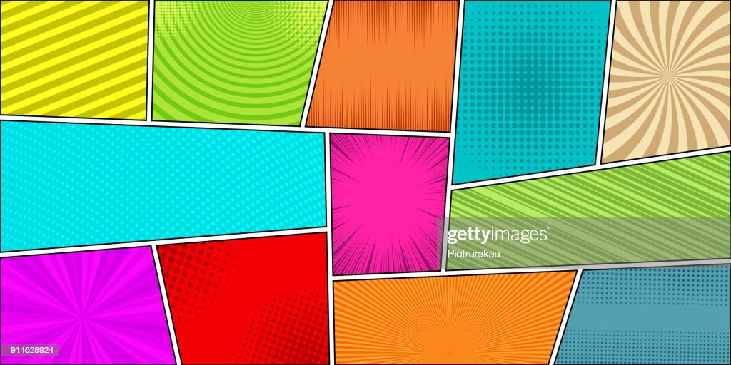 Comic book horizontal bright background