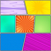 Comic book page bright background