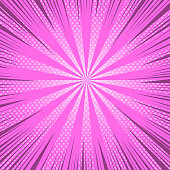 Comic book page bright pink background