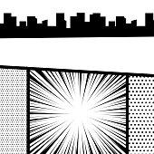 Comic book pop art monochrome mock up