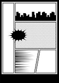 Comic book pop art monochrome mock up
