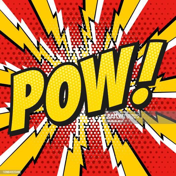 comic book pow - awe stock illustrations