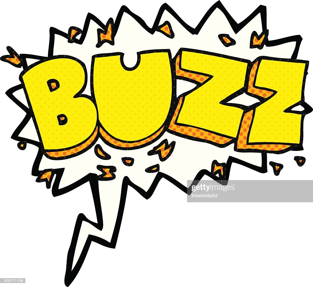 comic book speech bubble cartoon buzz symbol