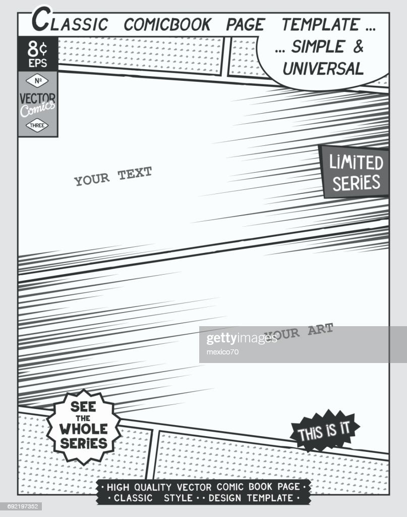 Comic book style template