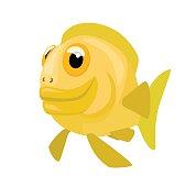 comic cartoon fish
