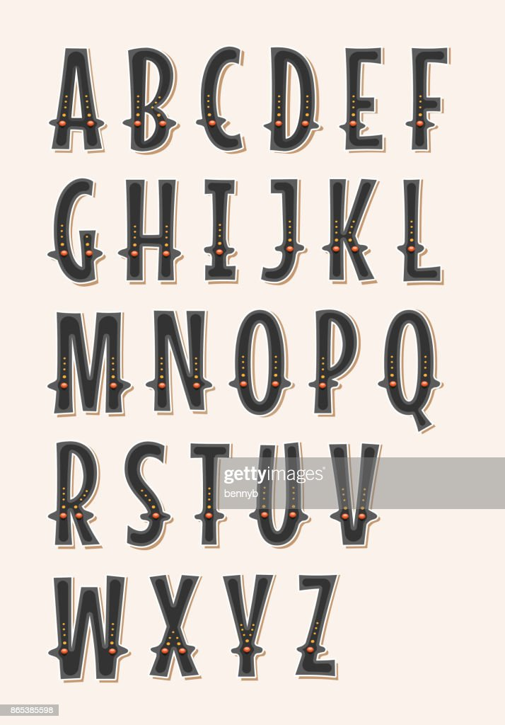 Comic Circus And Western ABC Font