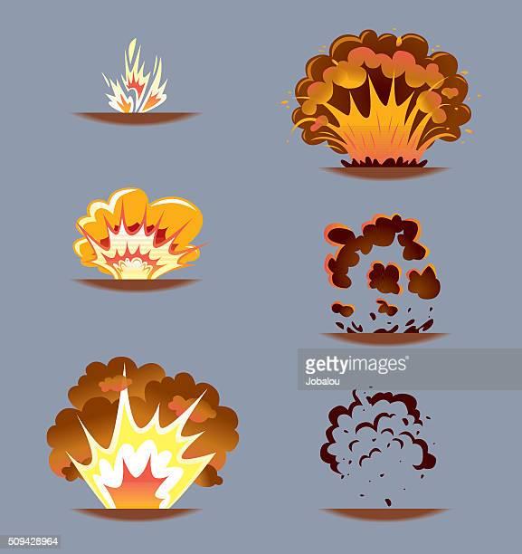 ilustraciones, imágenes clip art, dibujos animados e iconos de stock de explosión de cómic efecto de secuencia - bomba