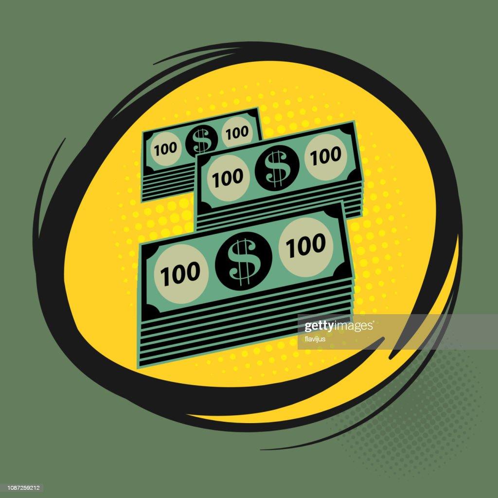 Comic explosion with Dollar cash money