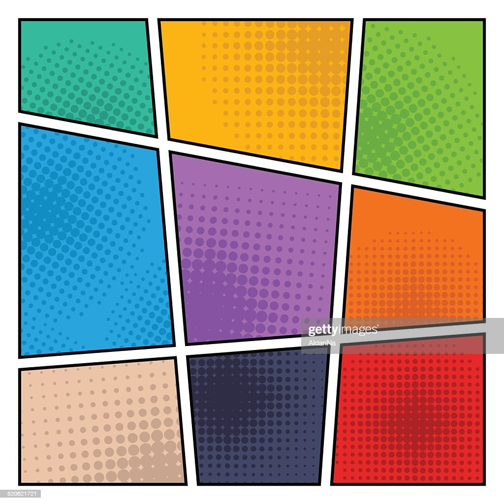 Comic halftone background, vector illustration