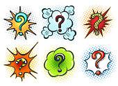 Comic question marks