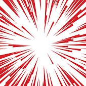 Comic Radial Speed Lines. Graphic Explosion Book Design Element. Vector