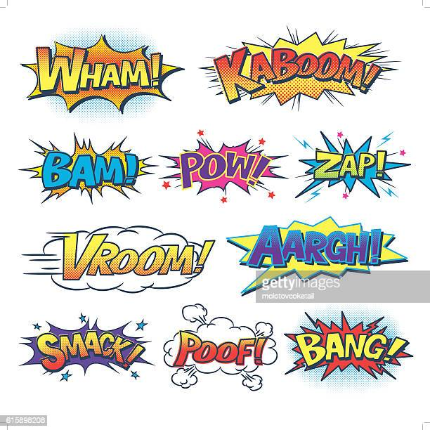 comic sound effect - comic book stock illustrations