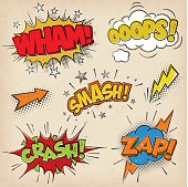 Comic Sound Effects with Grunged Style Set2