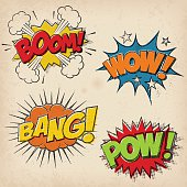 Comic Sound Effects with Grunged Style