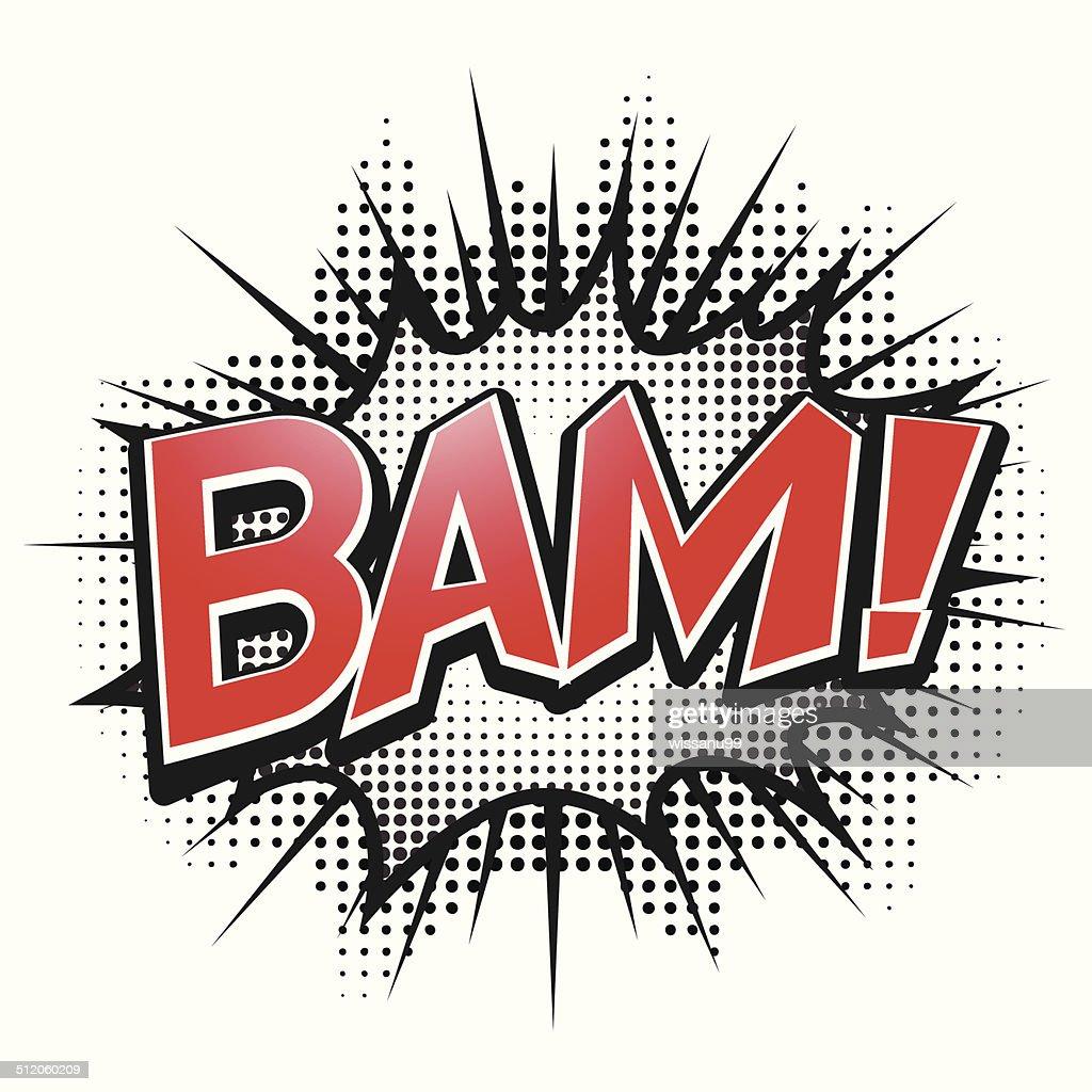 Comic speech bubble, Bam, isolate vector illustration
