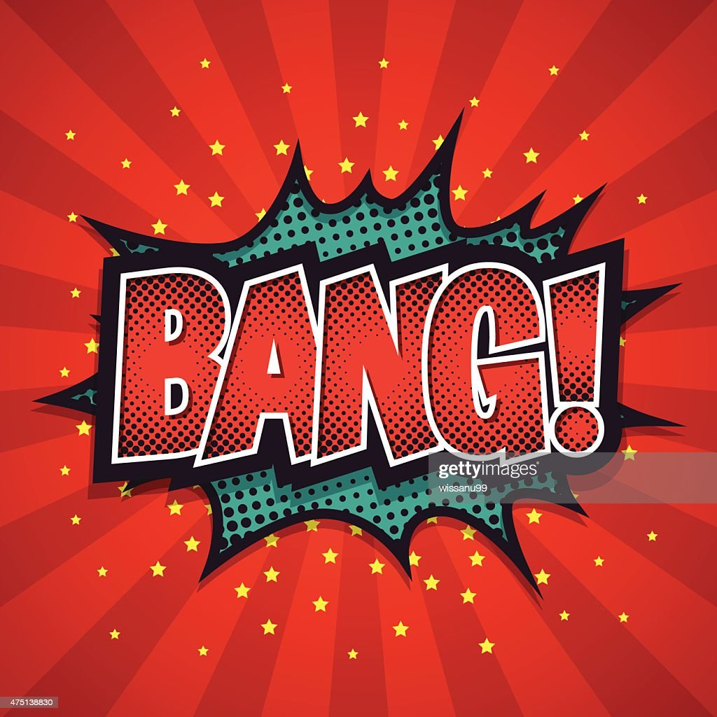 Comic Speech Bubble, Bang, Vector illustration