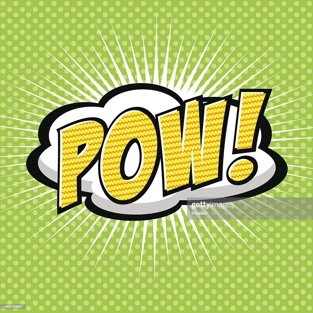 Comic speech bubble cartoon with Pow saying