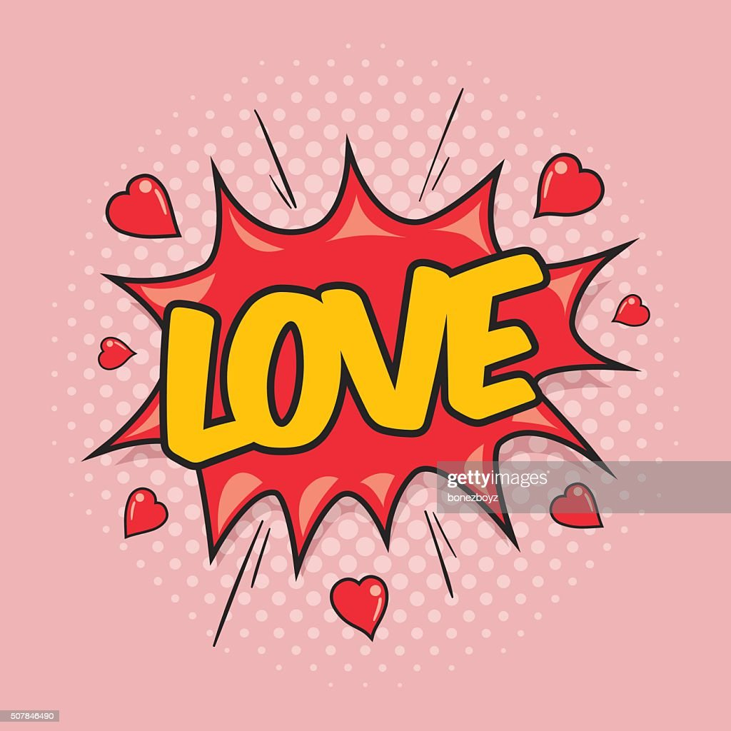 LOVE - Comic Speech Bubble