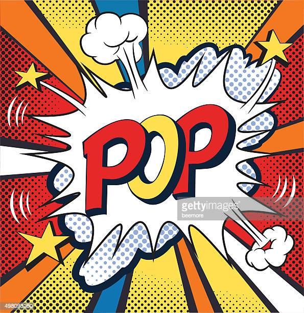 POP - Comic speech bubble. Vector Illustration