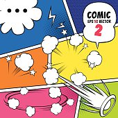 Comic speech bubbles and other