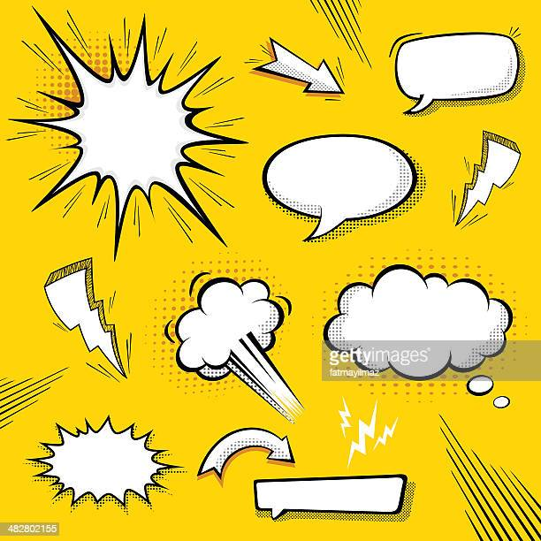 comic speech bubbles - exploding stock illustrations